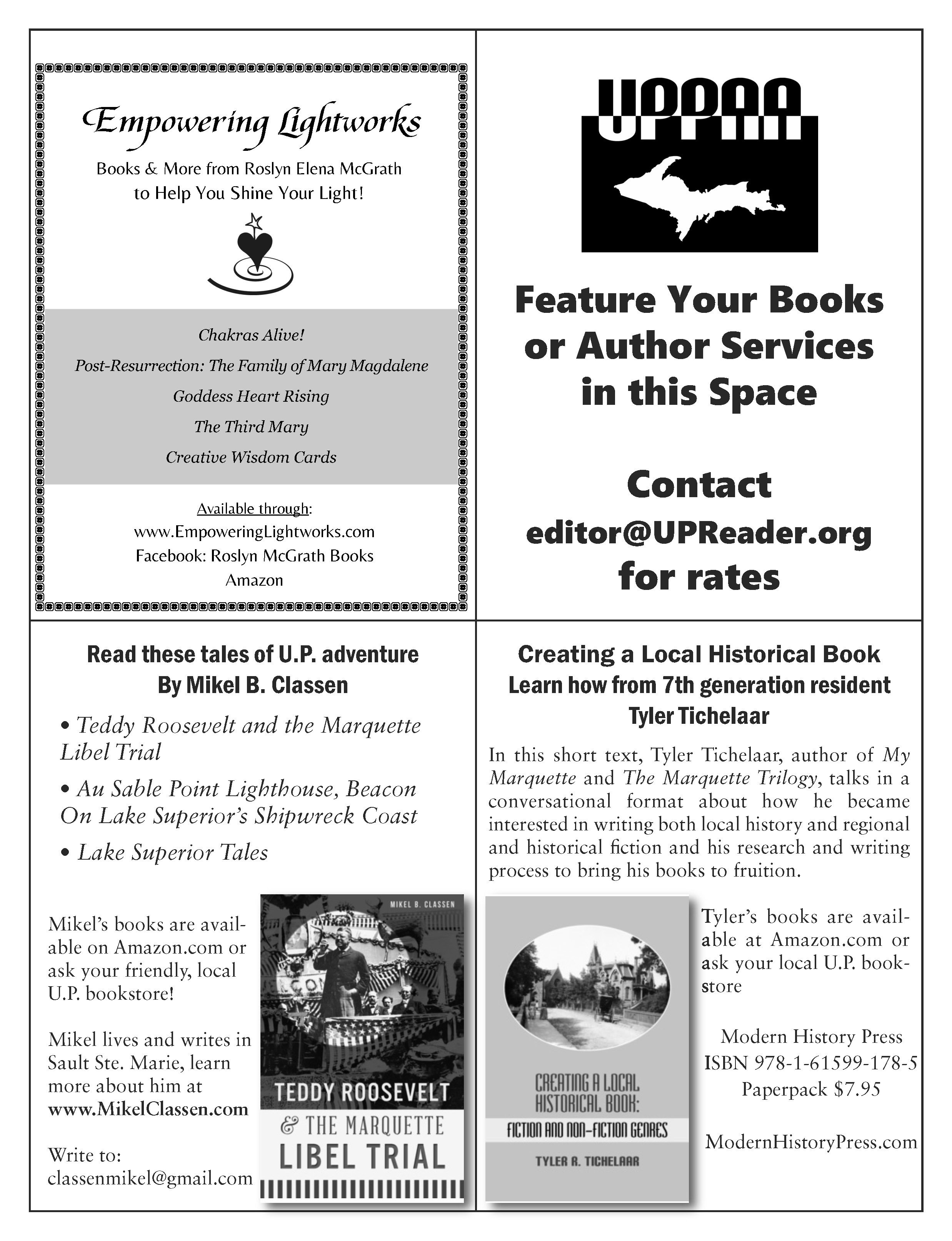 U.P. Reader Vol. 2 - Quarter Page advertising