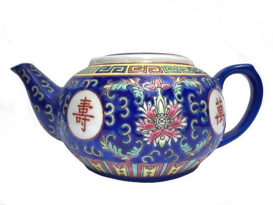 Chinese Rose Familia Teapot SM (Blue)