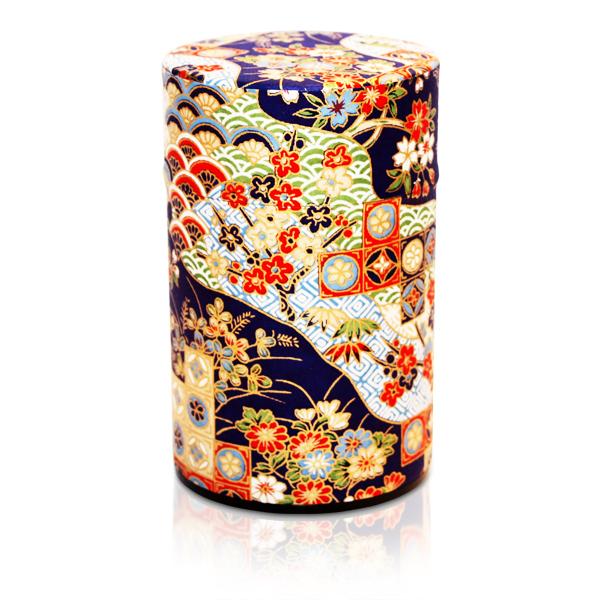 Seikaiha Tea Canister (Navy - 150g) TL-V-7233/150