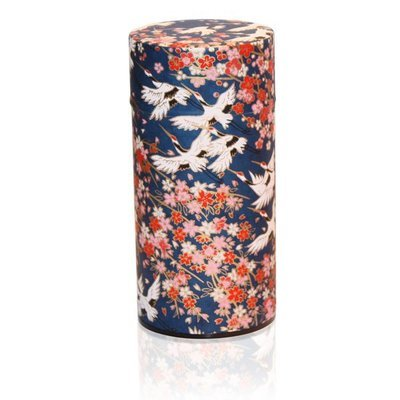 Flying Crane Tea Canister (Navy - 200g)