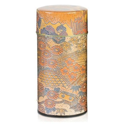 ​Komon Japan Tea Canister (Orange - 200g)