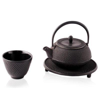 Cast Iron Teapot Moto Black 300ml