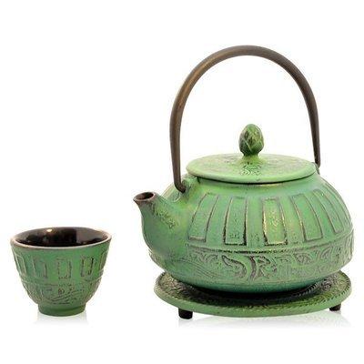 Cast Iron Teapot Reflection Green 800ml