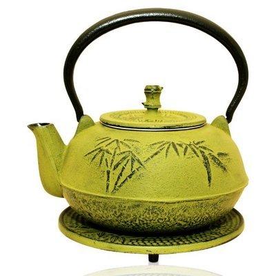 Cast Iron Teapot Bamboo Green 1.4L