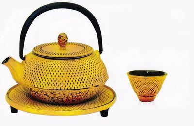 Cast Iron Teapot Moto Yellow 300ml