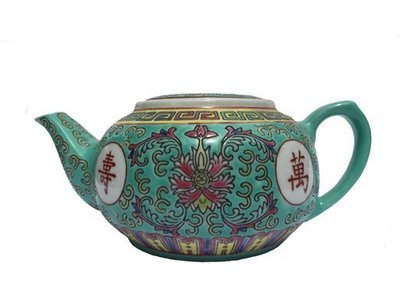 ​Chinese Rose Familia Teapot SM (Green)