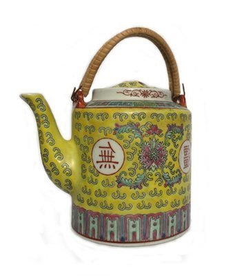 Chinese Rose Familia Ceramic Teapot LG (Yellow)