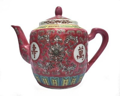 ​Chinese Rose Familia Teapot Medium (Red)