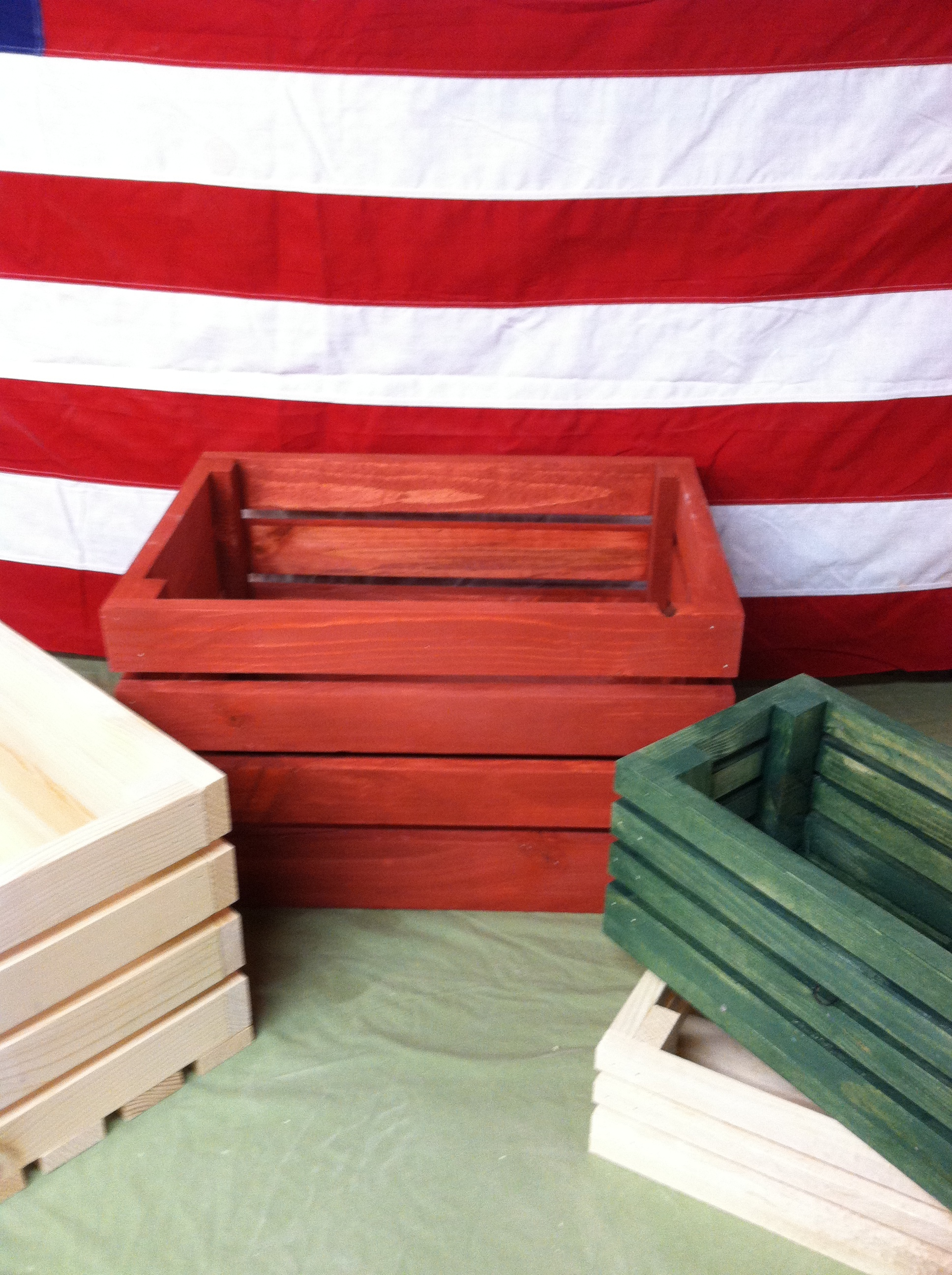 small wooden shipping crates