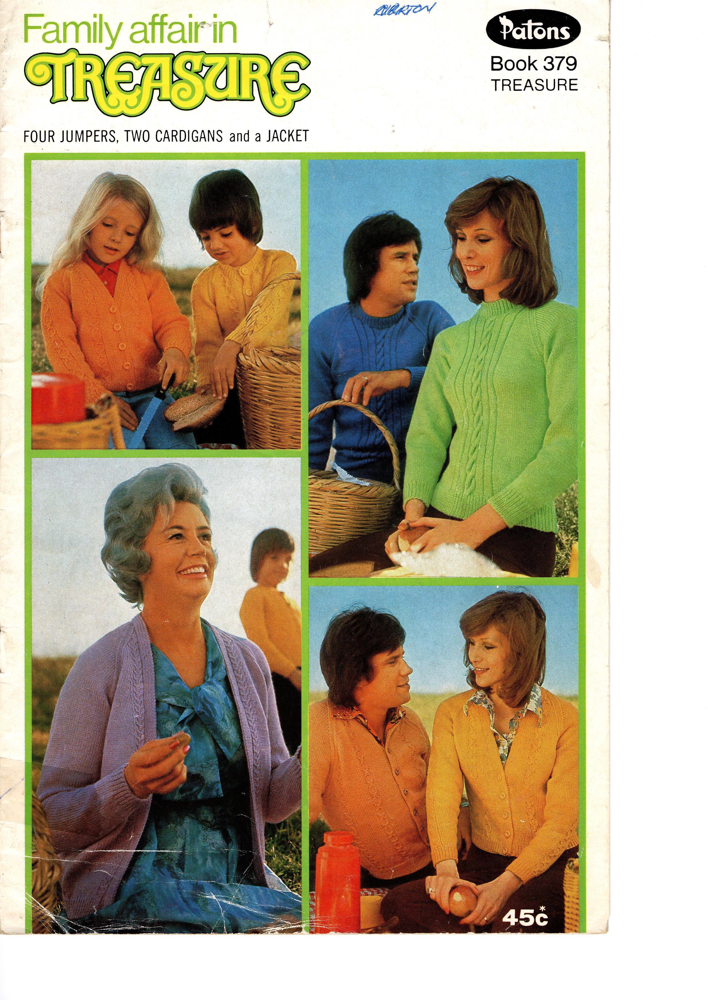 Patons Treasure Knitting Pattern Booklet No.379