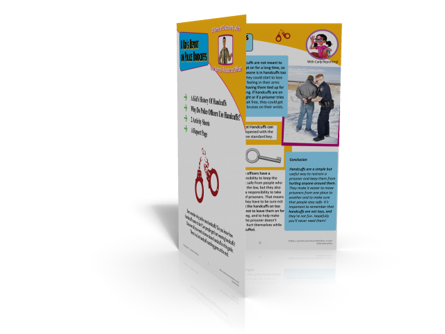 Discovery guide for kids on police handcuffs Law-Disc001
