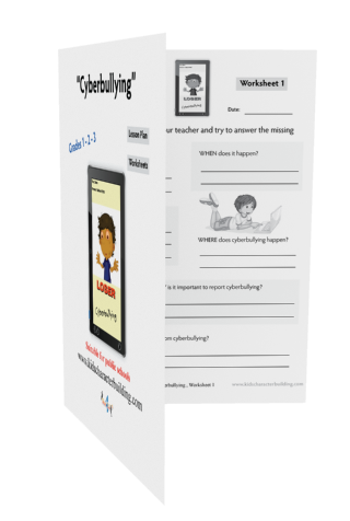 Lesson Plan and Worksheets on Cyberbullying Grades 1-2-3 Law-EZ113