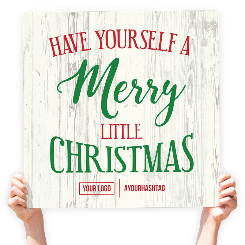 Have Yourself A Merry Little Christmas Sign.Christmas Greeting Sign Have Yourself A Merry Little Christmas