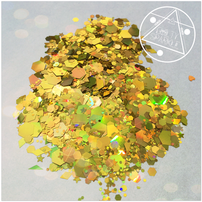 Gold Glimmer glitter mix 3,5gr.