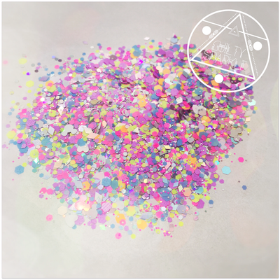Neon Confetti shimmer (small) glitter mix 3.5gr.