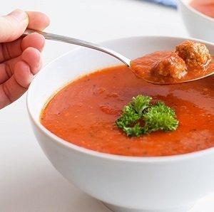 Tomatensoep met gehaktballetjes, 0,90ltr.