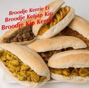 Broodjes Kerrie ei, ketjap kip, kip kerrie