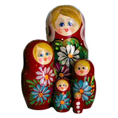 Traditional Nesting Doll (Red)