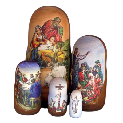 Life of Christ Nesting Doll (small)