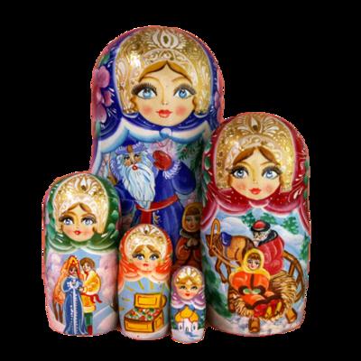 Winter Nesting Dolls