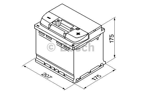 Start batterij Bosch 12V 44Ah 0092S40010