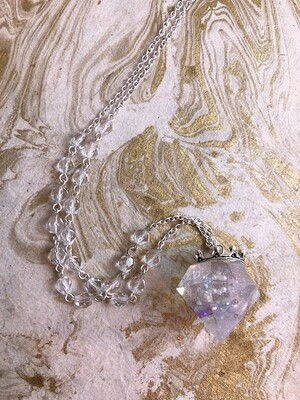 crowned jewel necklace (clear bubble magic)
