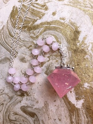 crowned jewel necklace (pink constellation)