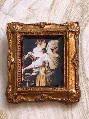frame brooch (gentileschi's judith)