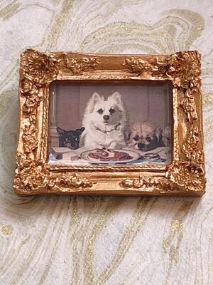 frame brooch (dog's dinner)