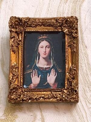 frame brooch (crowned virgin)