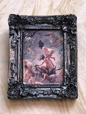 frame brooch (witches)