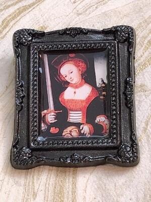 frame brooch (cranach's judith)