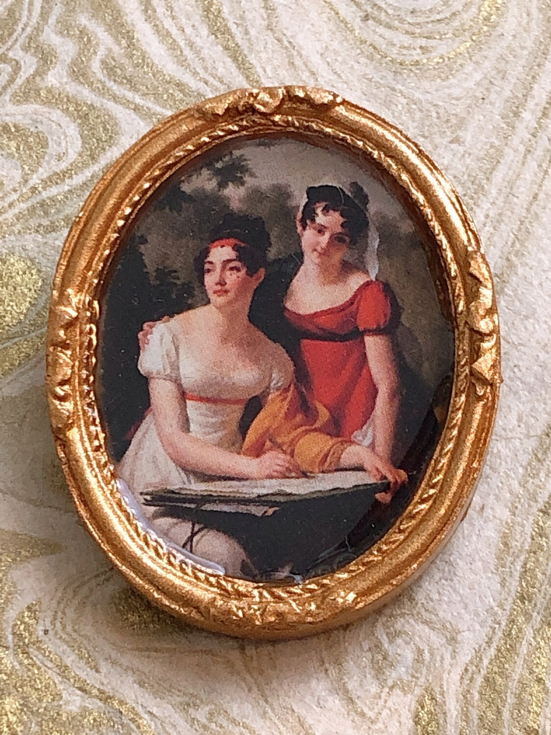 frame brooch (regency ladies)
