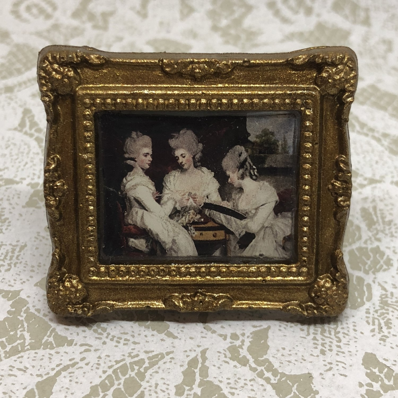 portrait frame brooch (ladies waldegrave)
