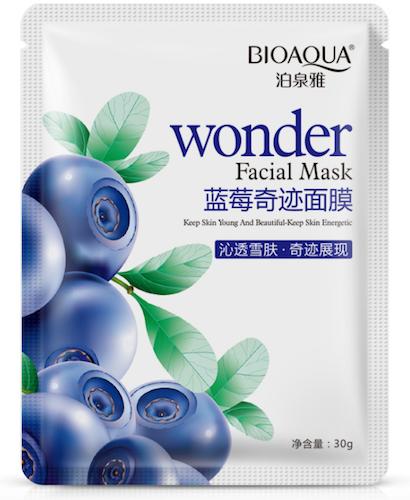 Увлажняющая маска «BIOAQUA» с экстрактом черники