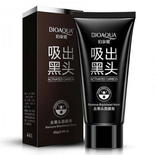 Черная маска с активированным углем «BIOAQUA» от черных точек и прыщей