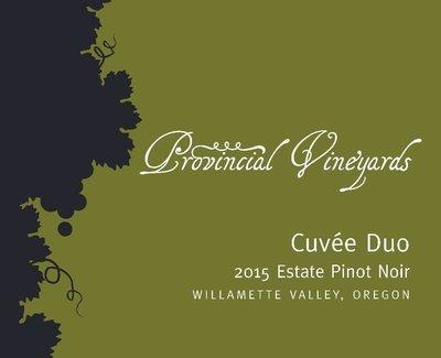 2015 Cuvée Duo Estate  Pinot Noir