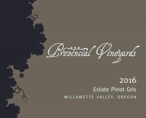 2016 Estate Pinot Gris