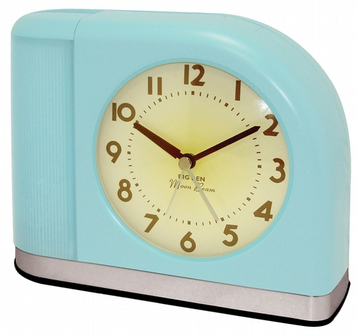 Westclox Big Ben Moon Beam Alarm Clock Aqua Blue 43006X