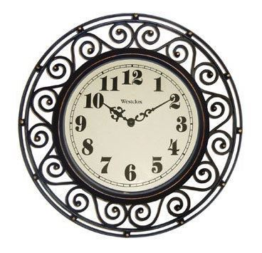"Westclox Wrought Iron Look Wall Clock 12"" 32021A 32021A"
