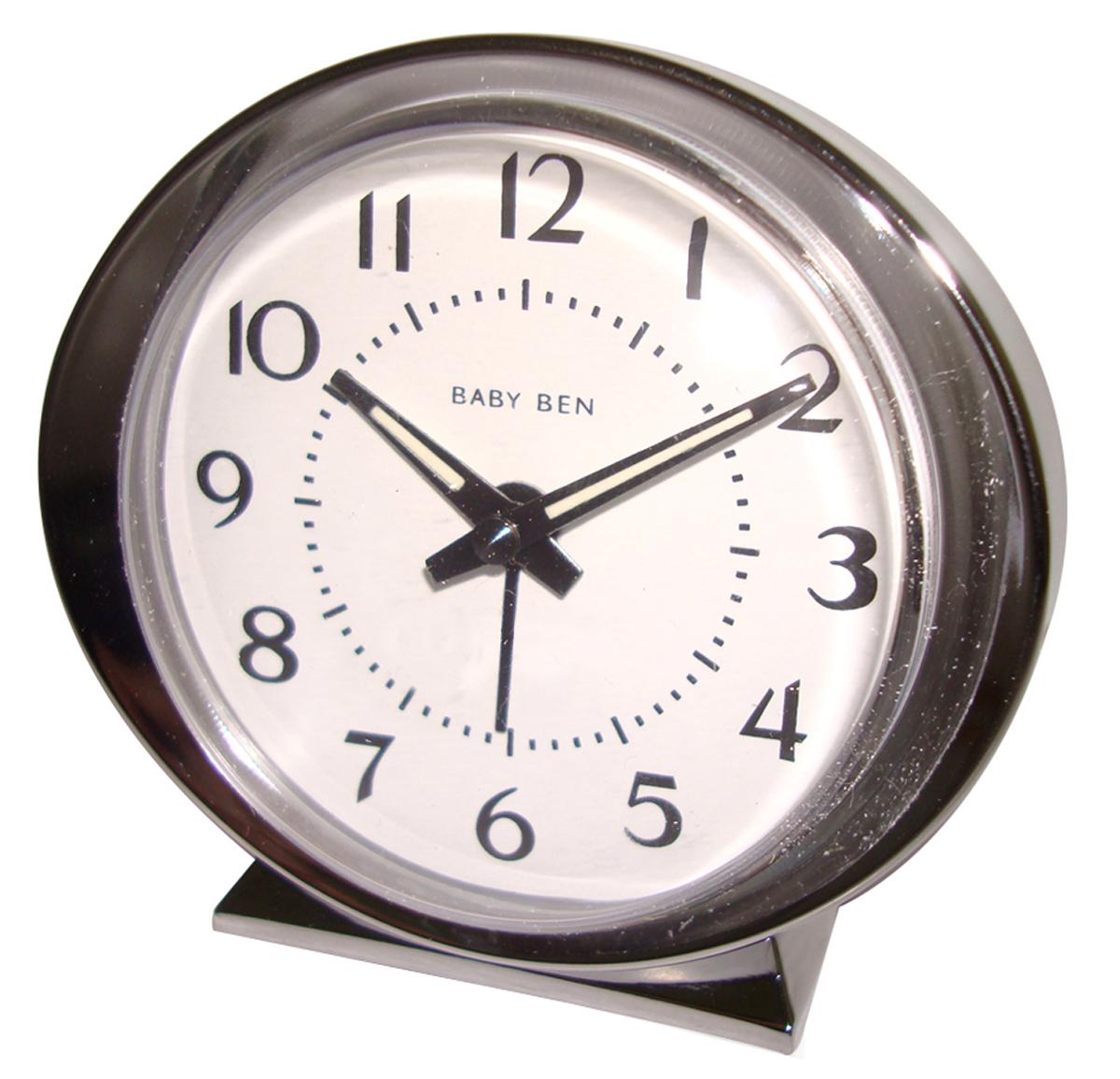 Westclox 1964 Baby Ben Classic Analog Battery Alarm Clock Ivory 11611QA 11611QA