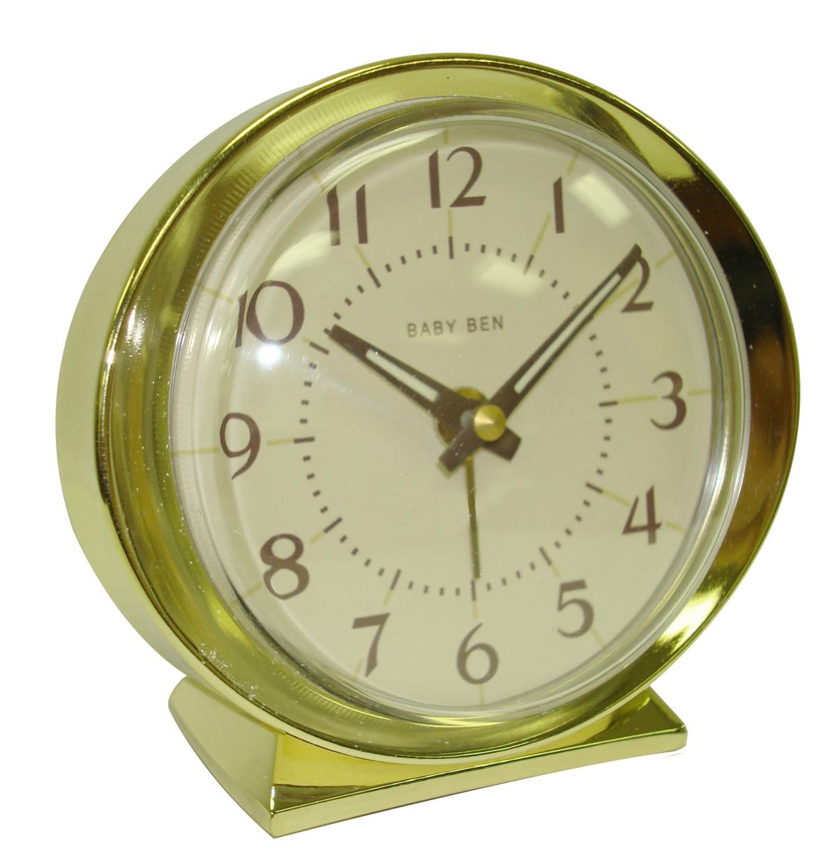 Westclox 1964 Baby Ben Classic Analog Battery Alarm Clock Almond 11605QA 11605QA