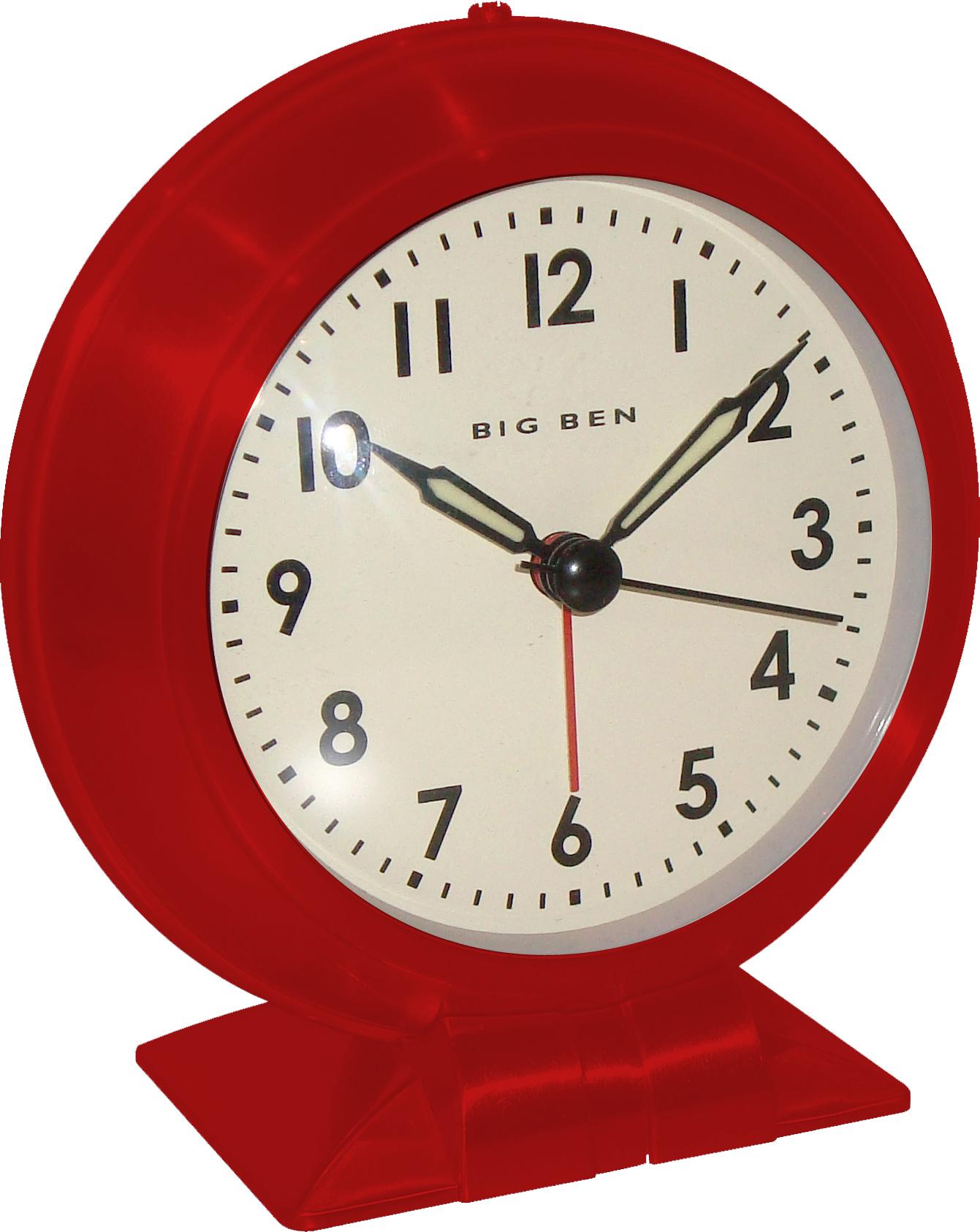 Westclox Big Ben Classic Red Alarm Clock Small Size 90010r Alarm