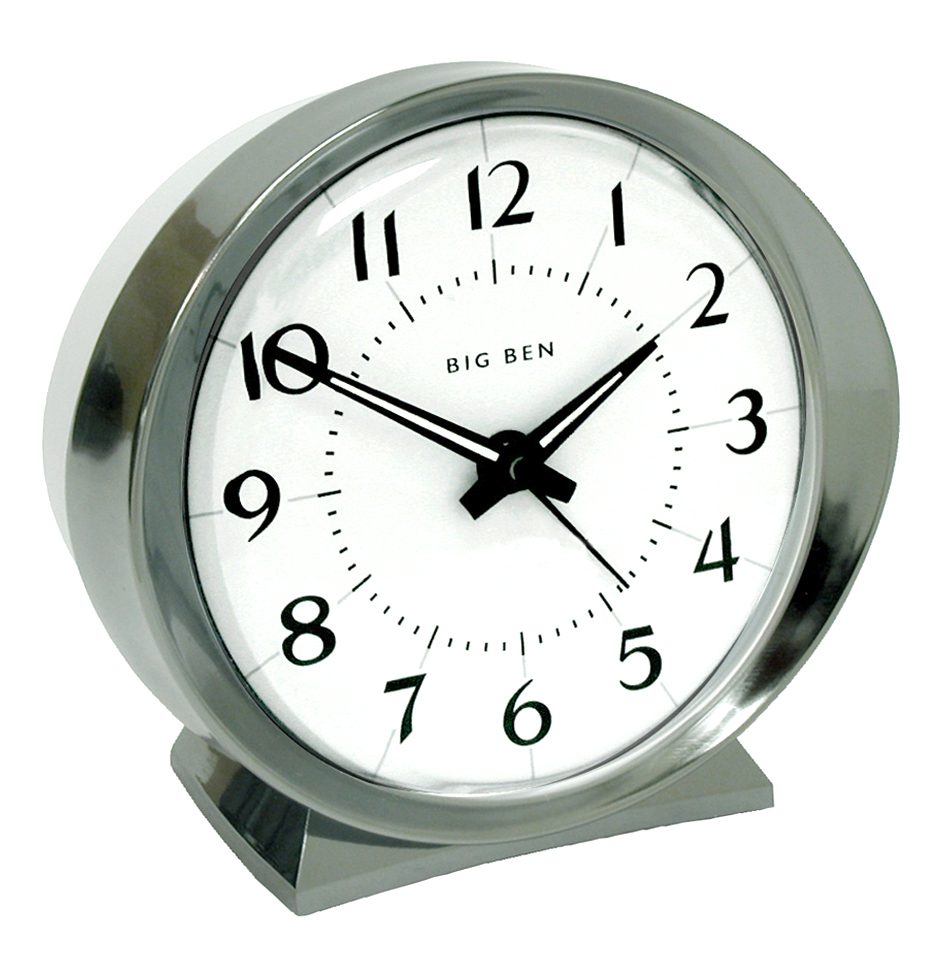 Westclox 1964 Big Ben Classic Analog Battery Operated Alarm Clock White 10611QA 10611QA