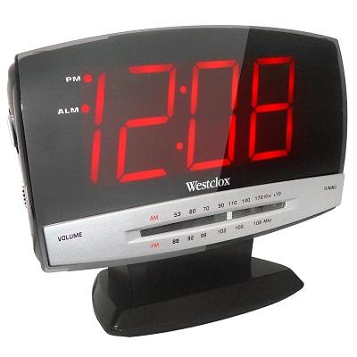 Westclox Plasma Screen AM/FM Clock Radio Alarm 80187