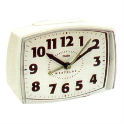 Westclox Dialite Analog Alarm Clock 22192