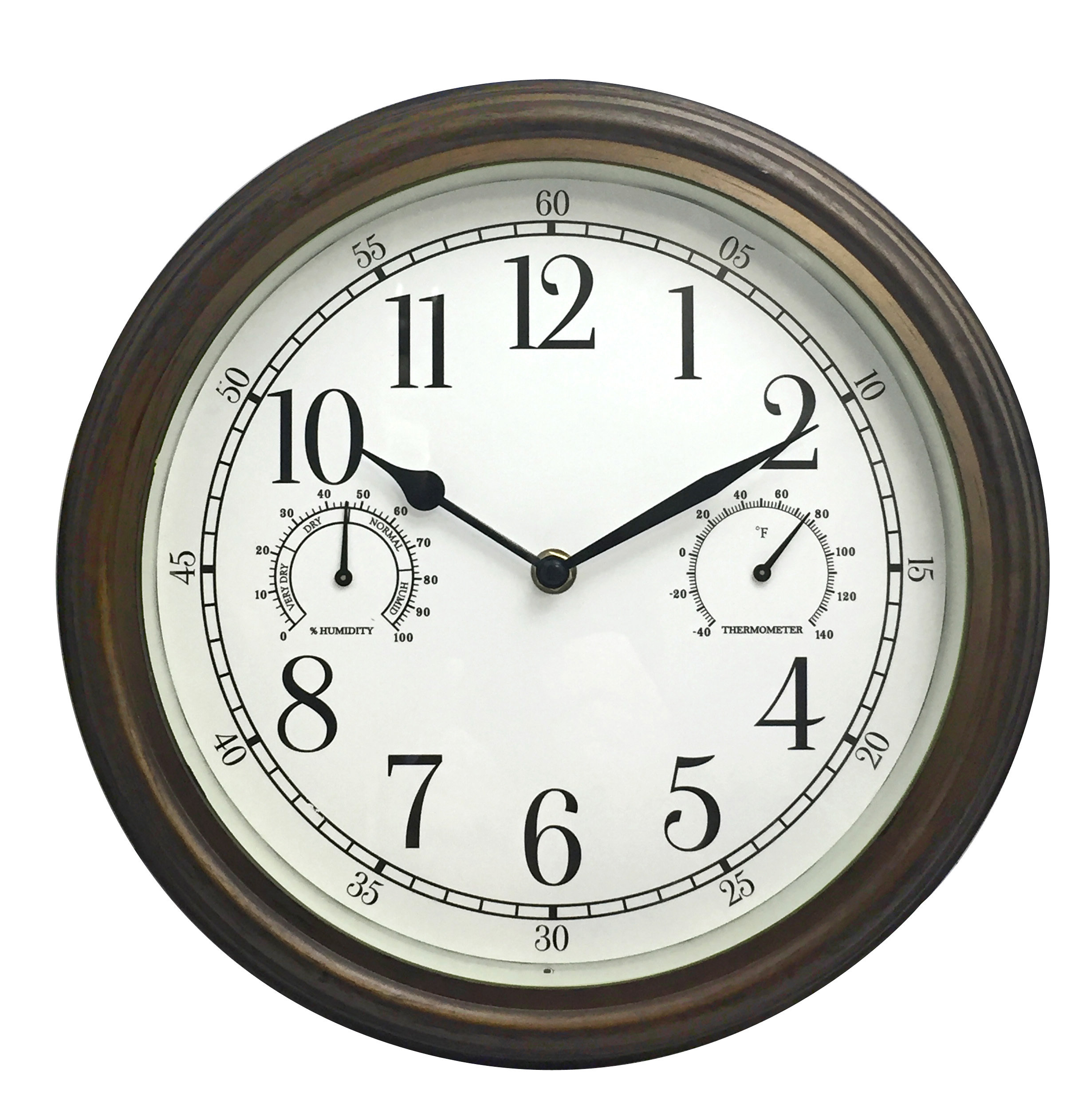 "Westclox 12"" Indoor Outdoor Wall Clock 33027"