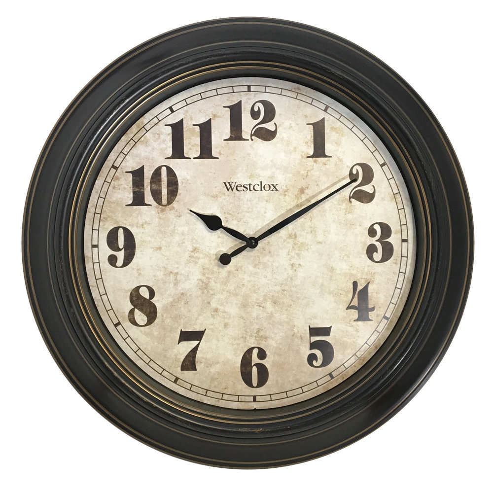 """Westclox 24"""" Classic Vintage Style Oversized Wall Clock 32213"""