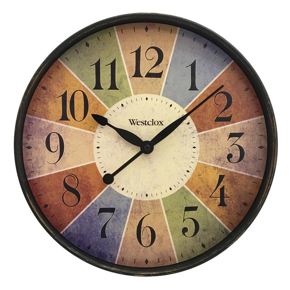 """12"""" Multicolor Dial Wall Clock 32897"""