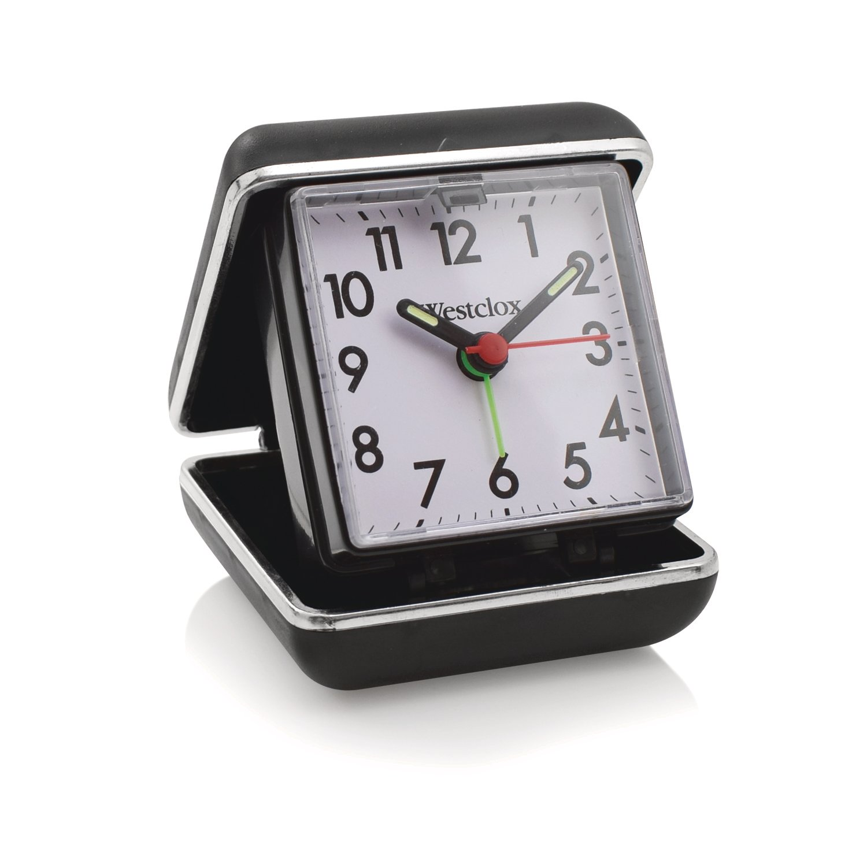 Westclox Folding Travel Analog Alarm Clock 44530QA